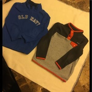 2 Old Navy jackets pullovers.  GUC